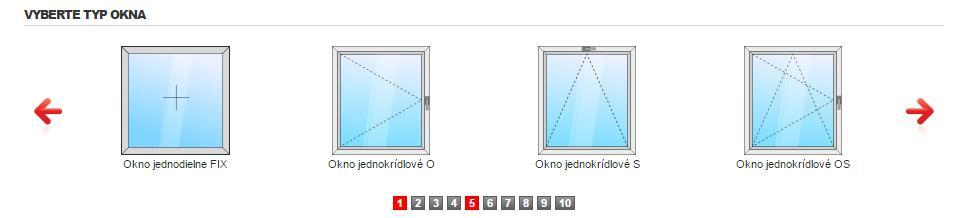 Výber typu Vášho okna