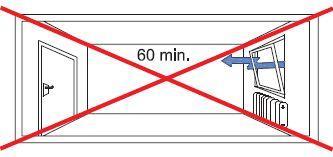 A 60 percnél tovább tartó szellőztetés nem hatékony!