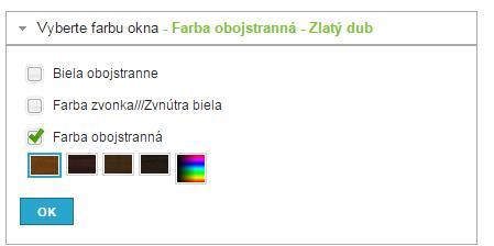 Výber farby okenného profilu