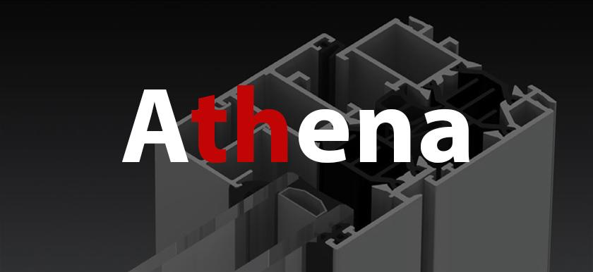 Hliníkové okná - Athena HI