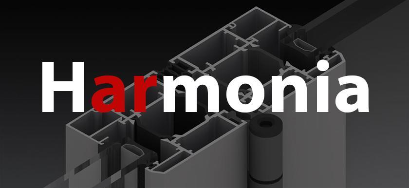 Skladacie harmonikové hliníkové dvere - Harmonia