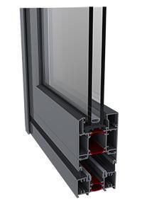 Hliníkové skladacie dvere Harmonia