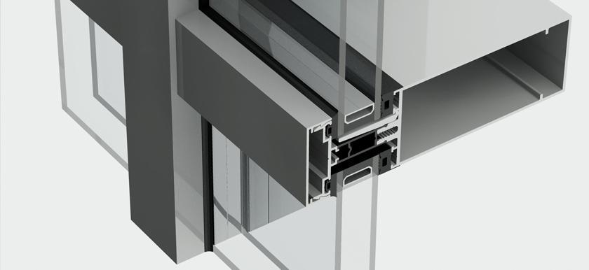 Hliníkový fasádny systém - Kratos HI