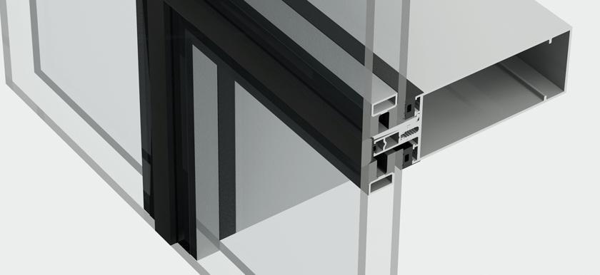 Hliníkový fasádny systém - Kratos SGG HI