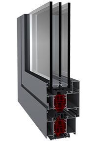 Hliníkové okno Triton HI+