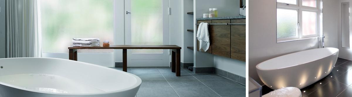 Najčastejšie využitie vzorovaných skiel je v kúpeľni.