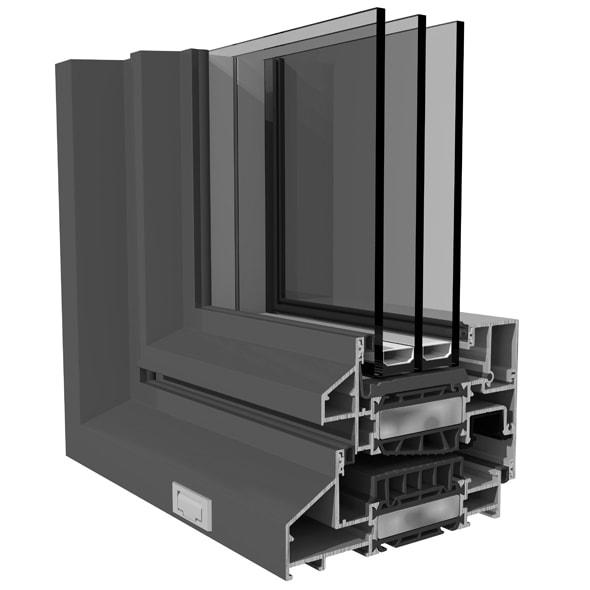 Amon - Dizajn hliníkových okien SO EASY