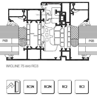 Bezpečnostné hliníkové okná proti vlámaniu RC1/RC2/RC3