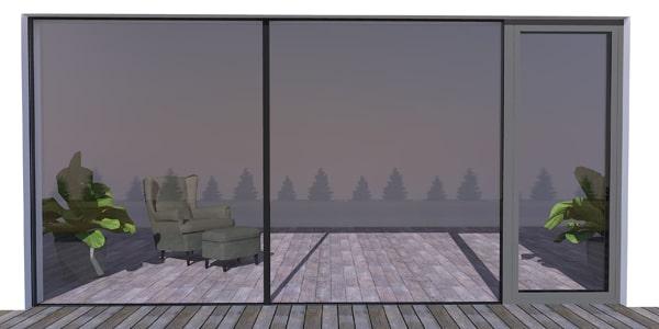 Bezrámové hliníkové okná WICLINE 75 + štrukturálny spoj skiel