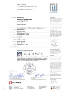 Certifikát okien triedy Silver - bluEvolution 73 AD