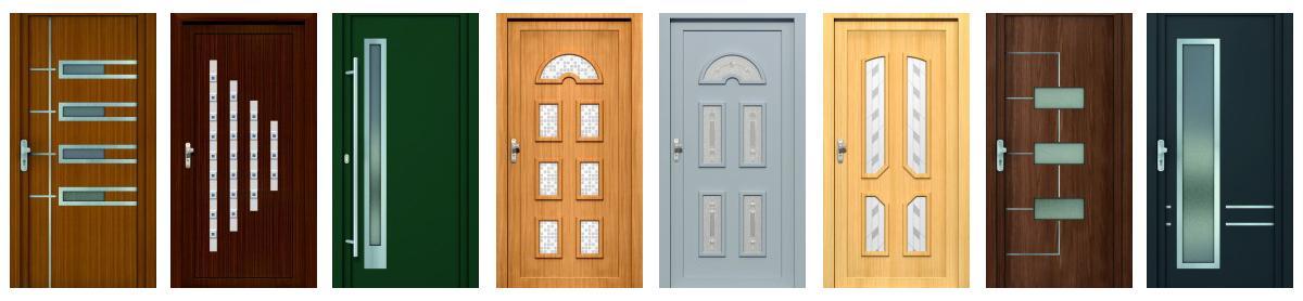 Dverné výplne, ktoré dodajú nádych Vašim vchodovým dverám.