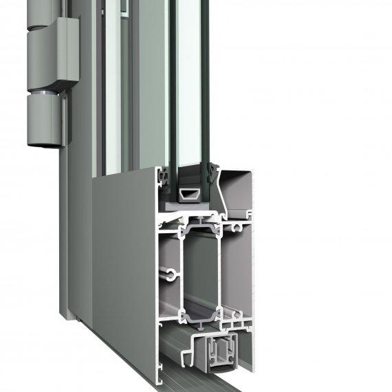 Hliníkové vchodové dvere CS 68