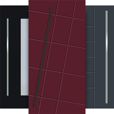 Hliníkové dizajnové dverné panely pre vchodové dvere