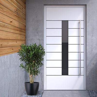 Vzor hliníkových panelových dverí WICSTYLE 75 so skrytým krídlom