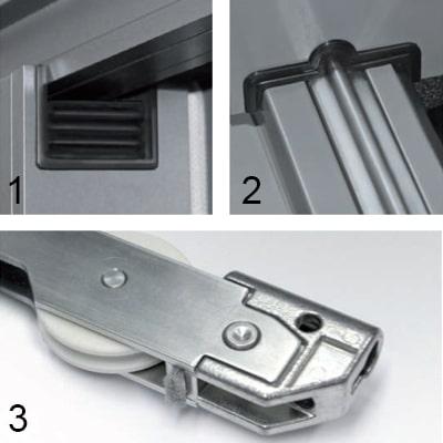 Detaily zdvižno-posuvných dverí WICONA WICSLIDE 160