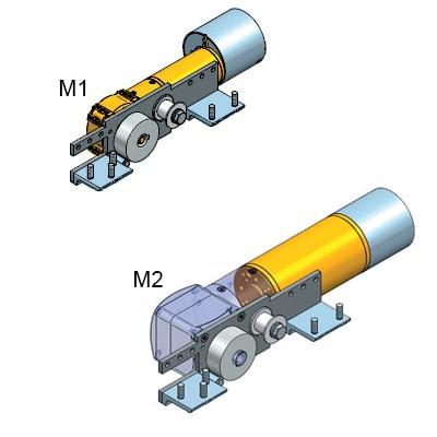 Automatizované ovládanie - Motor M1/M2