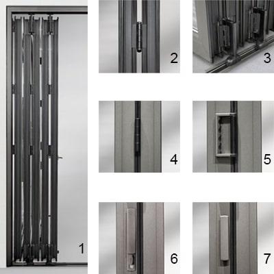 Detaily a dizajn skladacích posuvných dverí WICSLIDE 75FD