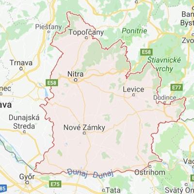 Mapa - Nitrianský kraj