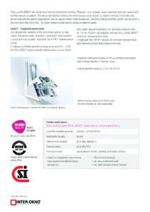 Katalóg okien triedy Diamant - Geneo 86 MD