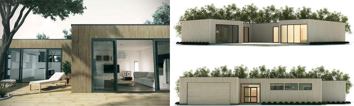 Moderný minimalistický dom.