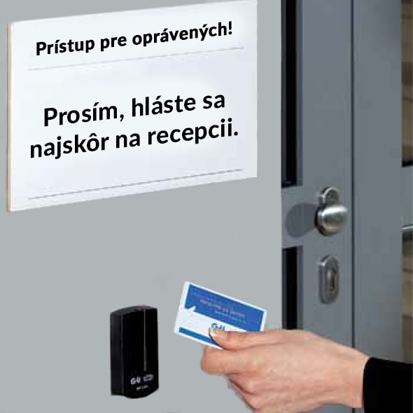 Prístup pre oprávených! Prosím, hláste sa najskôr na recepcii.