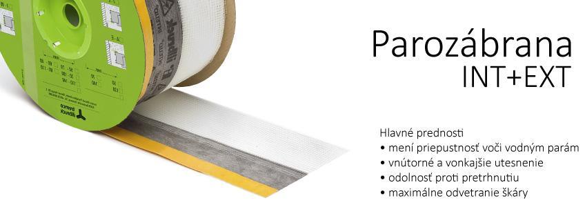 Parozábrana INT+EXT - Paropriepustné a paronepriepustné pásky
