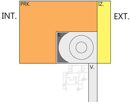 Znázornenie montáže nadokennej rolety pomocou predpripraveného prekladu