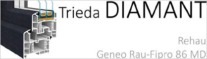 Okná triedy Diamant - Rehau geneo rau-fipro 86 MD