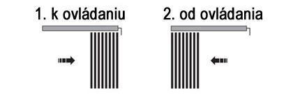 Typ ovládania 1. k ovládaniu a 2. od ovládania