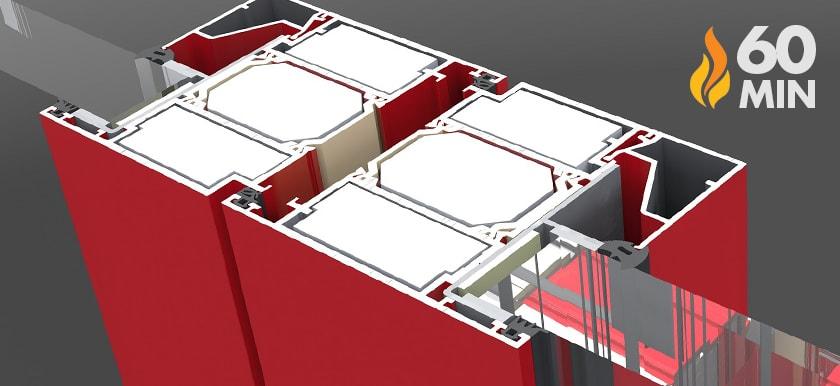 Hliníkové protipožiarne dvere WESTA EI60
