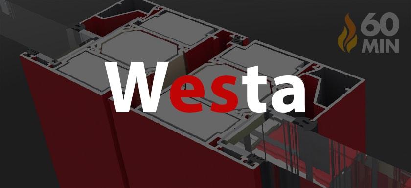 Protipožiarne hliníkové dvere - Westa EI60
