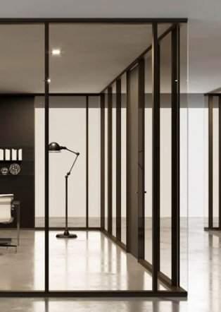 Interiérové hliníkové dvere