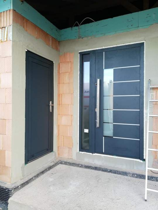 Montáž hliníkových okien a dverí - RD Bratislava